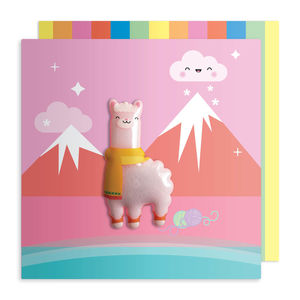 Jelly Magnet Llama Birthday Card