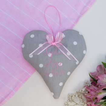 Dotty Name And Date Heart