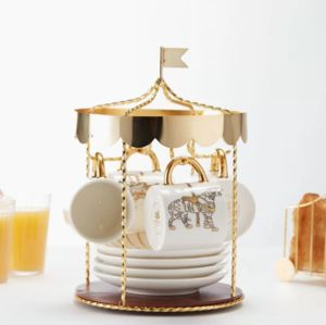 Carousel Bone China Tea Set - kitchen