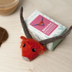 Highland Cow Brooch Needle Felting Craft Kit