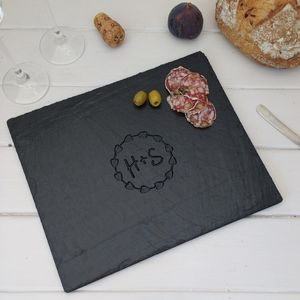 Romantic Engraved Slate Serving Board