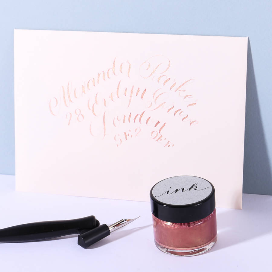 Rose Gold Calligraphy Ink By L 39 Aise