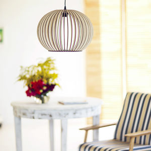 Globe Eco Wooden Lampshade, Ceiling Light - lighting