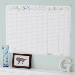 2018 Wall Planner With Happy Dates - 2015 calendars & diaries