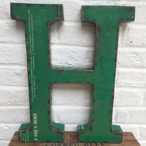 Vintage Style Metal Letters - what's new