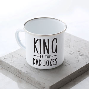 King Of The Dad Jokes Enamel Mug - summer sale