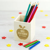 Personalised Best Teacher Pencil Pot - stationery