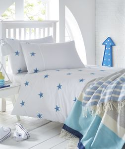 Triple Stars Embroidered Bed Linen Collection - bedding & accessories