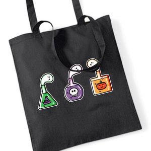 Cute Halloween Potions Cotton Tote Bag