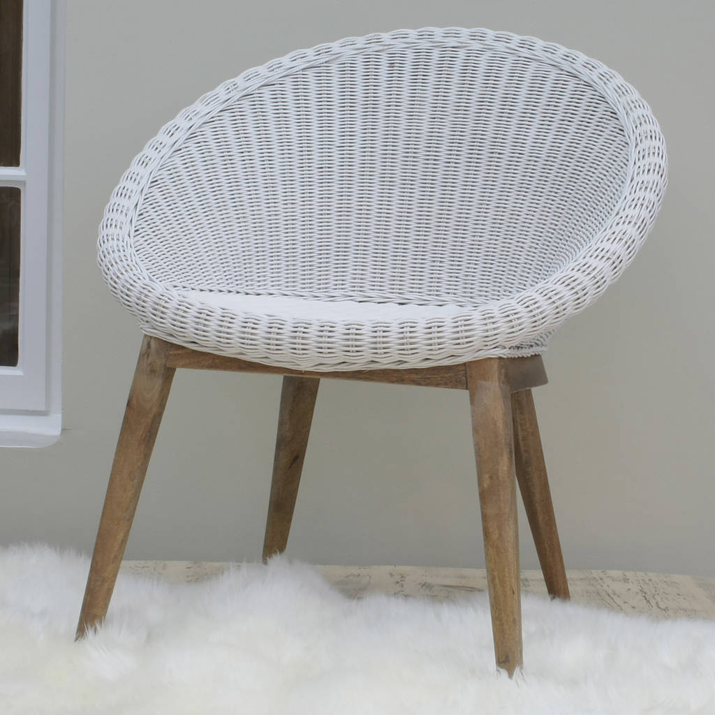 White woven tub chair by ella james for White bucket dining chairs
