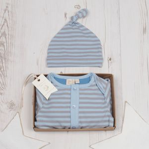 Baby Boys Hugo Playsuit And Hat Set - gifts for babies
