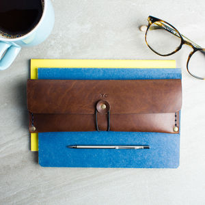 Personalised Leather Stitched Pencil Case - stylish gifts for him