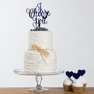 I Choose You Wedding Party Cake Topper Set