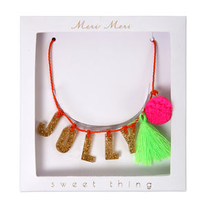 Jolly Christmas Sweet Thing Necklace - children's jewellery
