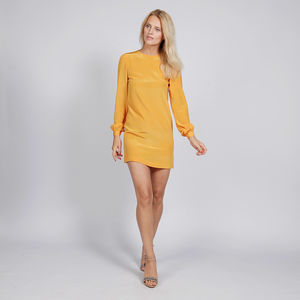 Silk Mini Dress With Long Sleeves - winter sale