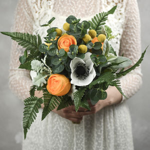 Paper And Faux Flower Wedding Bouquet, The Hilaire