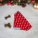 Red Christmas Reindeer Dog Bandana