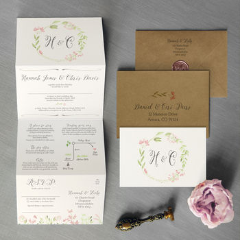 Spring Meadow Wedding Invitation