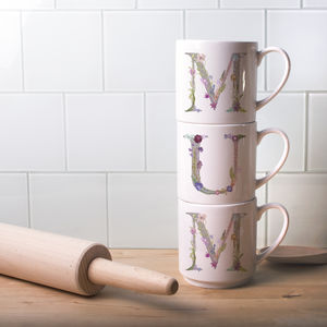 Personalised Mother's Day Floral Print Mugs