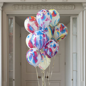 Pack Of 14 Messy Marble Party Balloons