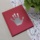 Foil personalised Handprint notebook RED