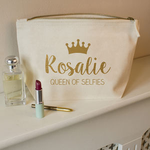 Personalised Queen Make Up Bag - make-up bags