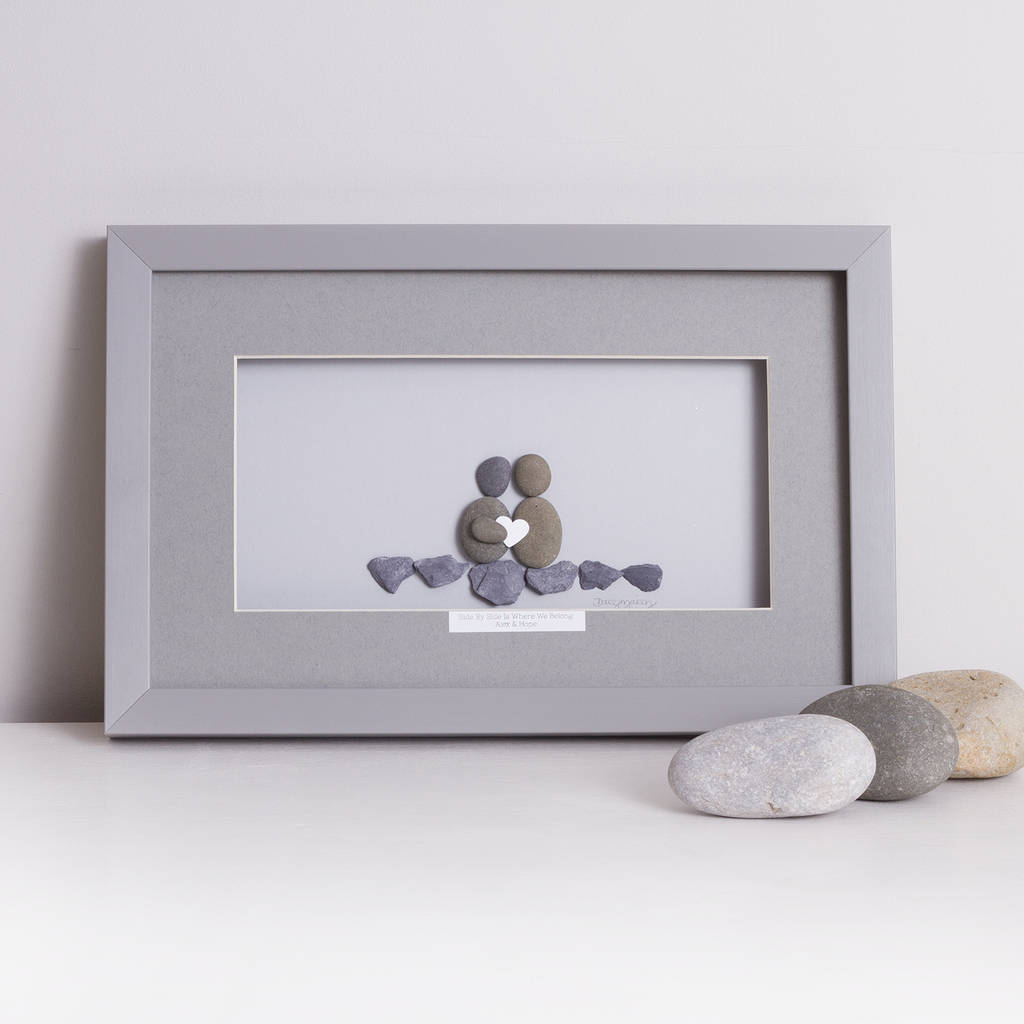 side by side is where we belong\' framed pebble artwork by daisy ...