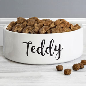 Personalised Pet Bowl Ceramic