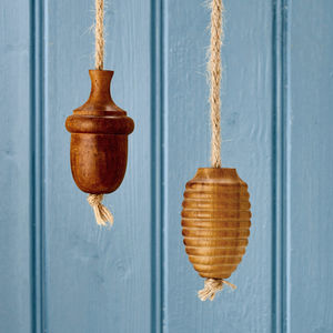 Solid Wooden Oak Rope Bathroom Light Pulls - light switches & pulls