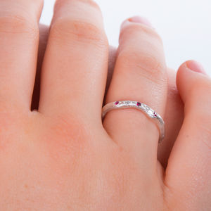 Eternity Ring Set With Ruby And Diamond