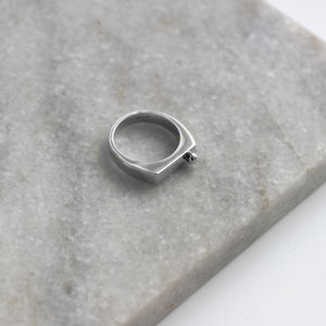 Sterling Silver Small Bead Caj Ring