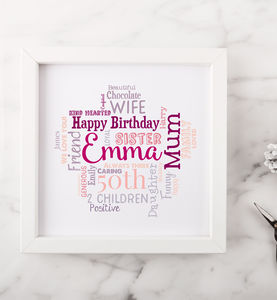Personalised 50th Birthday Gift For Her