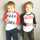 Twin Loves Matching Baseball Top Set