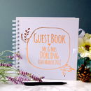 Personalised Wreath Wedding Guest Book