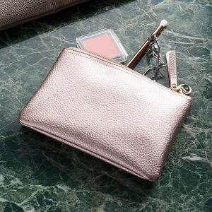 Personalised Metallic Make Up Bag - clutch bags