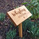 Modern Engraved Oak Memorial Plaque