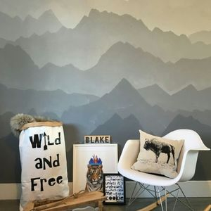 'Wild And Free' Paper Storage Bag - baby's room