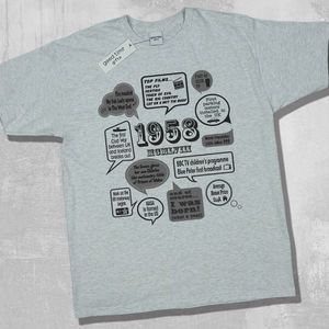 'Events Of 1958' 60th Birthday T Shirt