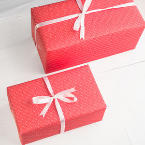 Valentines Red Gift Wrap Set