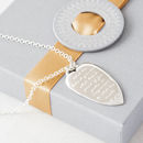 Personalised Silver Heart Quote Necklace