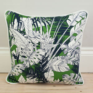Tropical Palm Leaf Cushion - winter sale
