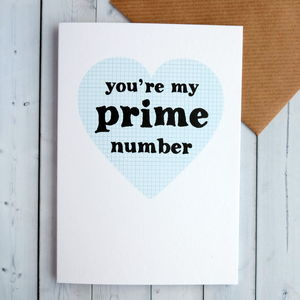 'You're My Prime Number' Anniversary Card - summer sale