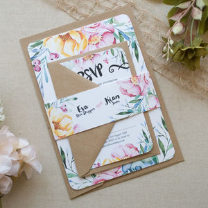 Succulent Wedding Invitation - new in wedding styling