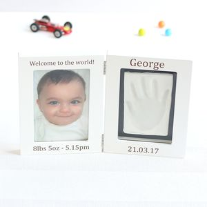 Personalised Baby Imprint Kit And Photo Frame - shop by price