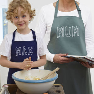Personalised 'Bubble' Name Apron