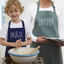 Personalised 'Bubble' Name Apron Child Or Adult