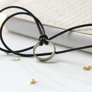 Silver Ring Nappa Necklace - necklaces