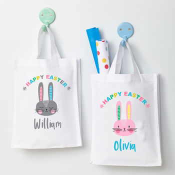 Personalised Easter Rabbit Hunt Bag