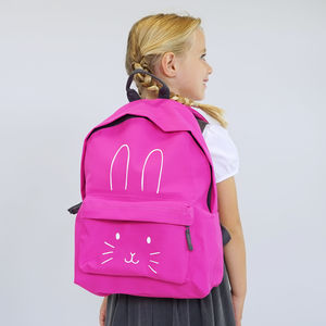 Bunny Face Children's Backpack - bags, purses & wallets