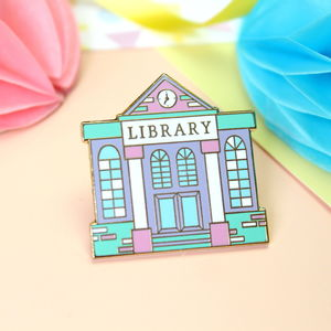 Library Enamel Pin